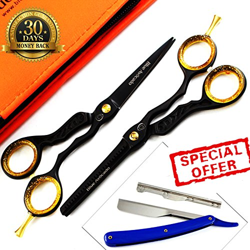 2-x-professional-hair-cutting-thinning-scissors-shears-hairdressing-set-comes-with-free-accessories