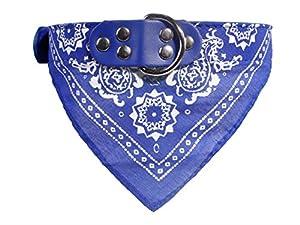 Incendemme Foulard Collier Bandana Reglable Chien Chat Mode de Chiot Chat Mignon Chaton--XL Bleu