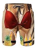 Loveternal Badeanzüge für Männer Badehose Bra Strand Kurze Hosen 3D Print Elastische Taille Surfing Badeshorts XXL