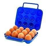 Milopon Eierhalter Eierablage für Kühlschrank Eier Aufbewahrungsbox Multifunktionsbox Transportbox Kühl-/Gefrierkombination, Einbaukühlschrank aller gängigen Fabrikate (Blau)