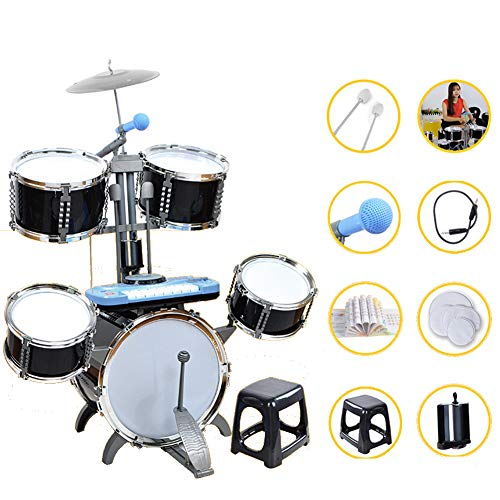 HBIAO Schlagzeug für Kinder Kinder Schlagzeug 5 Sätze von Trommel Percussion Multifunktions Schlagzeug Puzzle Früherziehung Spielzeug Trommel Geschenk