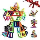 Innoo Tech Blocchi Costruzioni Magnetiche Puzzle di Legno per I Bambini Lasciate Che Il Vostro Bambino Imparare Colori e Forme Attraverso (108 Pezzi)