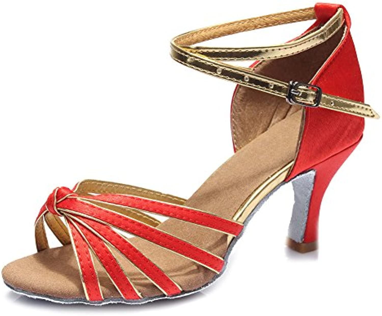 YFF Bal des femmes Chaussures de danse Latine Salsa talons talons Salsa Style 15 Sex ,Rouge, UK2,5 US 4/UE35,7CMB072R4QNPMParent 6eaa6b