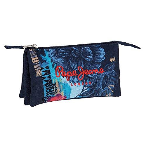 Trousse 3 compartiments Mangrove Bleu