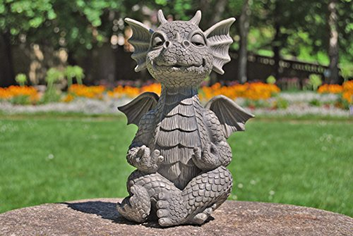 Figure de jardin Dragon Yoga médite