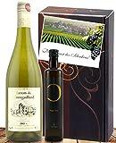 100% Sommer Weisswein aus Frankreich & Olivenöl aus Spanien Das Geschenk-Set in edler Verpackung Castell Miquel Olivenöl