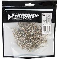 Fixman 686625JD-79–Tornillos galvanizados, paquete de 200, Oro, 3.5x 30mm