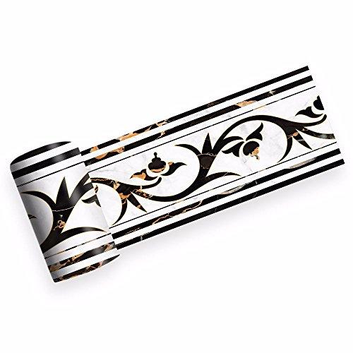 DMMASH PVC-Aufkleber-Dekorative Griechische Art-Küche, Badezimmer, Glastür, Seitliche Ordnung, Selbstklebende Grenzen Griechischen Grenze
