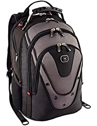 "Wenger 600628 UPDATE 15"" MacBook Pro Backpack , Anti-scratch lining with dedicated 10"" iPad Pocket in Black / Grey {20 Litres}"