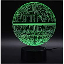 3d optische illusions lampen nhsunray led 7 farben touch schalter ndern nachtlicht fr schlafzimmer - Star Wars Todesstern Lampe