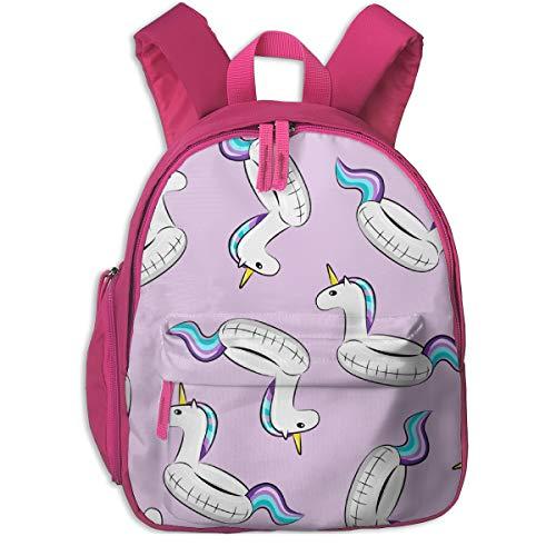 Zaino per bambini 2 anni,Unicorn Pool Float Toss (viola e blu) Su Purple_2770 - littlearrowdesign, Per scuole per bambini Oxford panno (rosa)