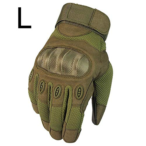 Wovemster Voll Finger Handschuhe für Männer,Tarnung,Geeignet für Militärfans, Reiten im Freien,L(Army Green) -