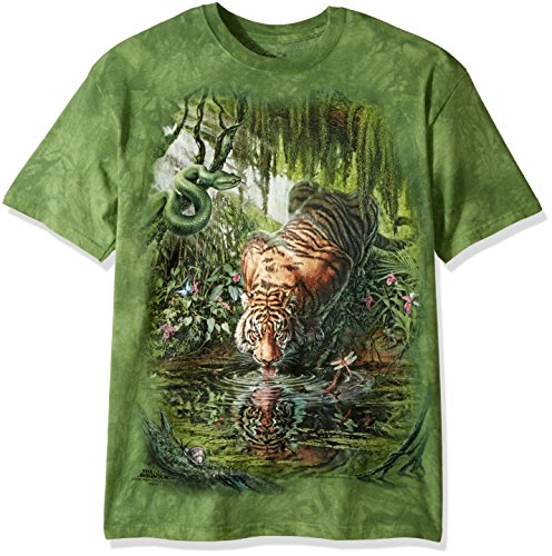 "The Mountain T-Shirt ""Enchanted Tiger"" Grün"
