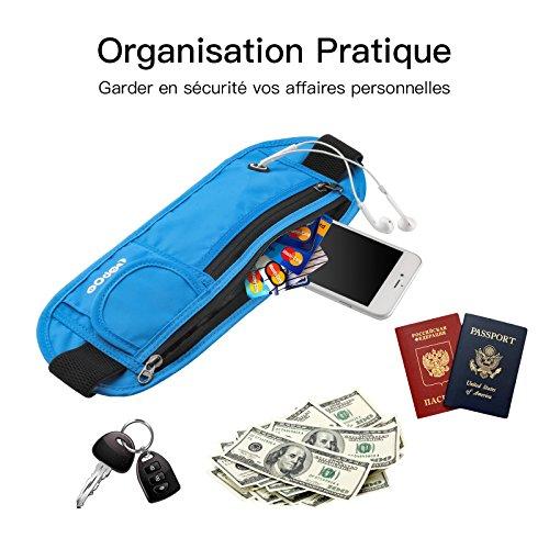 ... Voyage Anti-Vol Ceinture de Course Réglable 60-140cm pour Protéger  Portable Papier d identité Passeport Carte Argent Clés. Promo ! 🔍. £20.99  ... 9753a9bb737