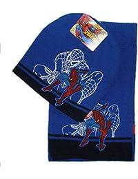 Winterset Spiderman Mütze+Schal navy