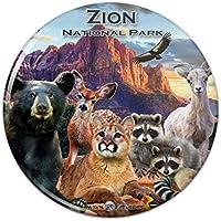 1098d766de38b Zion National Park Utah UT Animals Cougar Bear Hirsch Waschbär Küche  Kühlschrank Spind Magnet – 5
