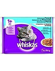 Whiskas Alimento Para Gatos, Sabores Del Mar Sobres - Pack de 4 x 100 g - Total: 400 g