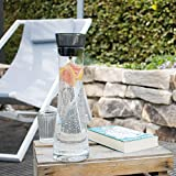 bremermann Glaskaraffe AMISA 1,2 Liter, Funktions-Ausgießer, Wasserkaraffe (Grau) - 6