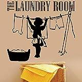 The Laundry Room Vinile Adesivo Vestiti Madre Lavanderia Segno Simbolo Sticker Inspirational Lavanderia Deco DIY 64X57cm