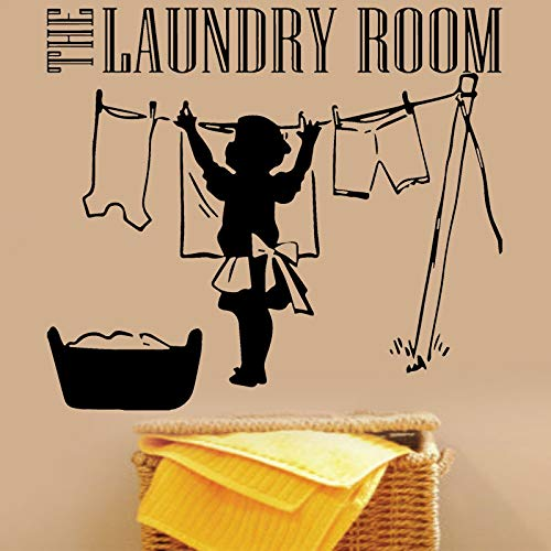 WWYJN The Laundry Room Vinyl Wall Decal Clothes Mother Laundry Sign Symbol Sticker Inspirational Laundry Room Deco47x42cm (Simpson Samsung Fall)