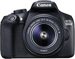 Canon EOS 1300D Kit Fotocamera Reflex Digitale da 18 Megapixel con Obiettivo EF-S DC III 18-55 mm, Wi-Fi, NFC, Nero/Antracite [Versione Canon Pass Italia]