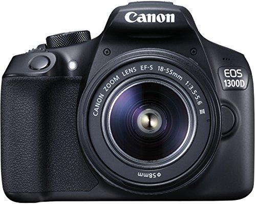 Canon EOS 1300D - Digitale Spiegelreflexkamera Kit inkl. EF-S 18-55mm III Objektiv, schwarz