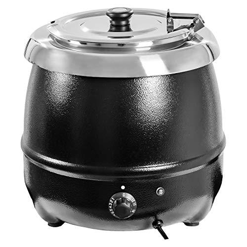 Royal Catering RCST-9400 Elektrischer Suppentopf 10 L Suppenkessel (400 W, schwarz)