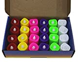 #4: Citra Battery Color Changing Tea Lights, Pack Of 24, 7 Colors