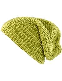 PEARL urban xXL long bonnet en tricot bonnet-vert clair