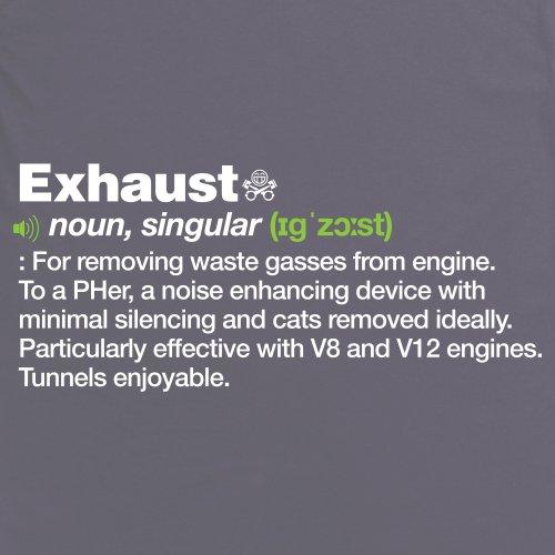 PistonHeads Exhaust T-Shirt, Damen Anthrazit