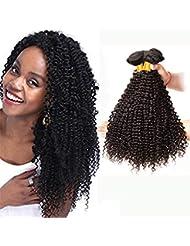 a065904e4629 Ladiary brésilien crépus cheveux bouclés tissage Remy vierge cheveux  brésiliens crépus bouclés humains cheveux naturel double