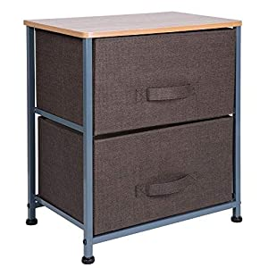 ARCALT – Aufbewahrungsbox aus Vliesstoff mit 3 Schubladen für Zuhause und Büro – Braun