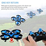 JoyGeek Mini Drone for Kids, RC Quadcopter with 2.4G 4CH 6 Axis Headless Mode, 360° UFO Mini Quadcopter Drone, Flips & Rolls Remote Control One Key Return Helicopter ( Blue )