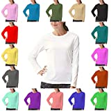 Papaval Kids Girls Boys Plain Basic Top Long Sleeve Crew Uniform Jumper T-Shirt Tops
