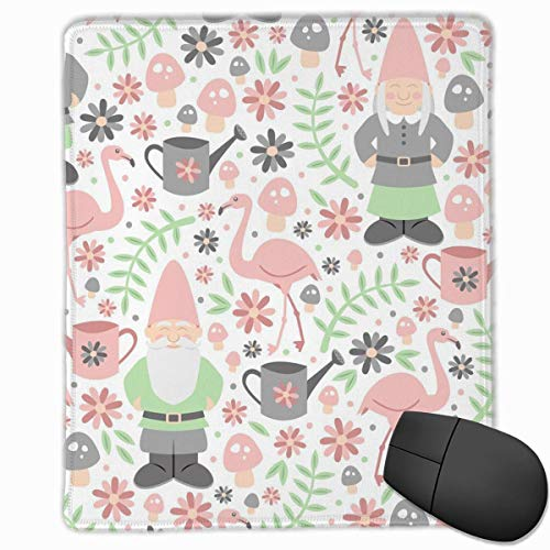 Mouse Pad GNOME Garden Light Non-Slip Rubber Gaming Mouse Pad Mat -