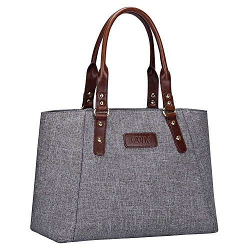 S-ZONE Damen Handtaschen Leichte Arbeitstasche Schultertasche Große Tote Casual Beutel