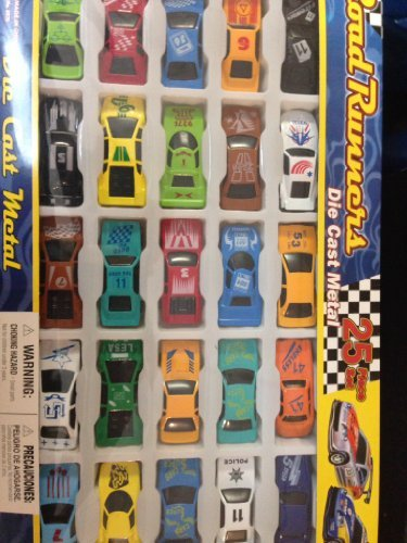 cars-road-runners-25-piece-set-die-cast-metal-cars-164-scale-great-gift-set-by-tbc-toys