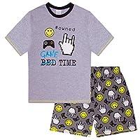 The Pyjama Factory Boys Game Time Owned Short Pyjamas Computer Game (10-11 Years) Grey