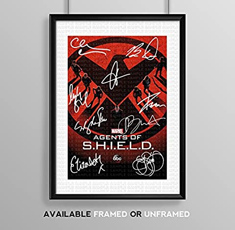 Agents Of Shield S.H.I.E.L.D Cast Signed Autograph Signature Autographed A4 Poster Photo Print Photograph Artwork Wall Art Picture TV Show Series Season DVD Boxset Present Birthday (POSTER