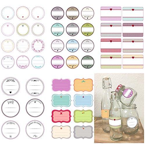 46 tlg Geschenkaufkleber Set Geschenkesticker Etiketten Sticker Aufkleber für Geschenktüten und Geschenke (Auswahl 4)