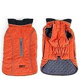 V.JUST Haustier Hund Wintermantel gemütliche Haustier Jacke Weste warme Haustier Outfit Kleidung für kleine mittelgroße,Orange,L