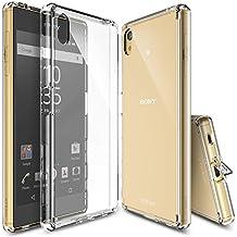 Funda Xperia Z5, Ringke FUSION Choque Absorción Funda de parachoques y Protección gota [GRATIS Protector de pantalla][CRYSTAL VIEW] Prima Clear Back duro para Sony Xperia Z5