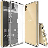 Ringke Fusion Compatible with Xperia Z5 Case Clear Transparent PC Back Cover Flexible TPU Bumper [Drop Defense] Raised Bezels Scratch Protection Natural Form for Sony Z5 - Clear