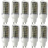 Aoxdi 10x GU10 9W LED Mais Leuchtmittel Birnen, Warmweiß, GU10 LED 9W Mais Licht Lampen 96 SMD 4014 Energiespar Lampe, AC220-240V