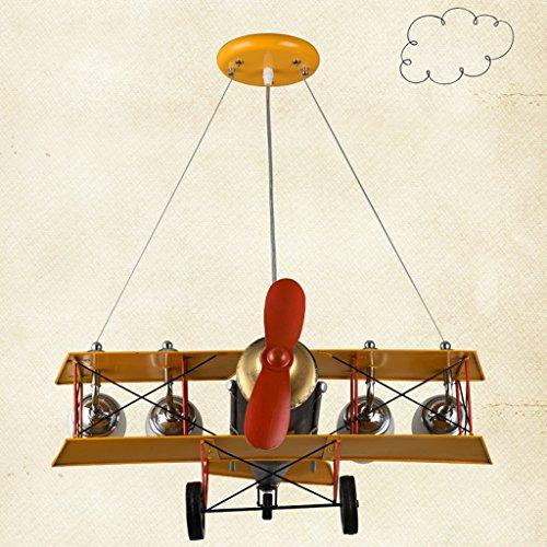 Guo Kinderzimmer-Lichter-Jungen-Schlafzimmer-Flugzeug-Lichter-Kronleuchter-Pers5onlichkeit-kreative Legierungs-Lampen-E27 Lampen-Hafen - 4