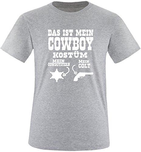 Luckja Das ist mein Cowboy Kostüm Herren Rundhals T-Shirt Grau/Weiß