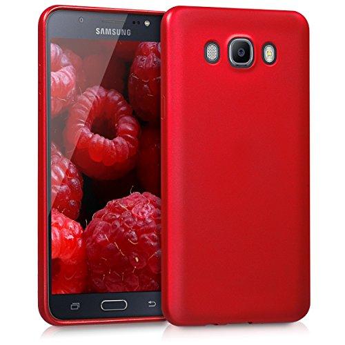 kwmobile Samsung Galaxy J7 (2016) Hülle - Handyhülle für Samsung Galaxy J7 (2016) - Handy Case in Metallic Dunkelrot