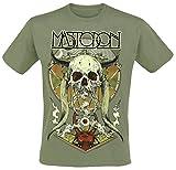 Photo de Mastodon Ritual Skull T-Shirt Manches Courtes Vert par Mastodon