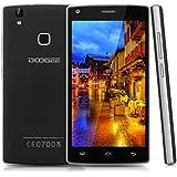"""Doogee X5 Max - Smartphone móvil libre (Android 6.0, Pantalla 5.0"""", Quad Core, 8GB ROM, 1GB RAM, Dual SIM, Sensor de huellas dactilares), Color negro"""