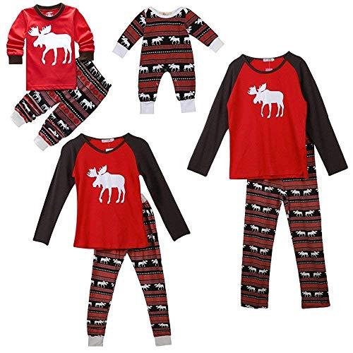 SPECOOL Weihnachten Familie Elk Urlaub Familie Passende Weihnachten Pyjamas Pjs Nachtwäsche Sets